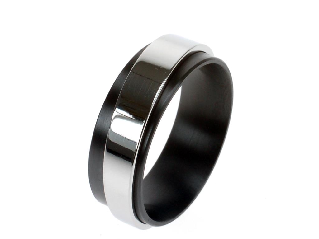 Brontes ring met edelstaal
