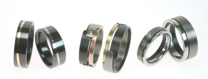 Stunning wedding rings Niobium wedding rings